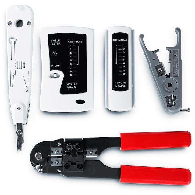 CSL Netzwerk Kabeltester für RJ45-/RJ11-Kabel »geeignet für Telefon & Netzwerk / inkl. Zubehör«