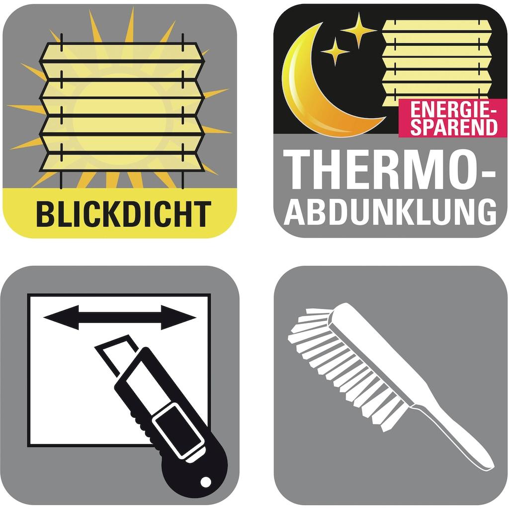 GARDINIA Plissee »Easyfix Plissee Day + Night«, verdunkelnd, energiesparend, ohne Bohren, verspannt, Fixmaß