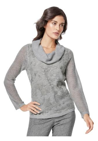 Creation L Pullover mit Netzbesatz kaufen