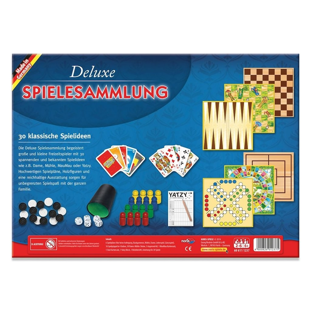 Noris Spielesammlung »Deluxe Spielesammlung«, Made in Germany