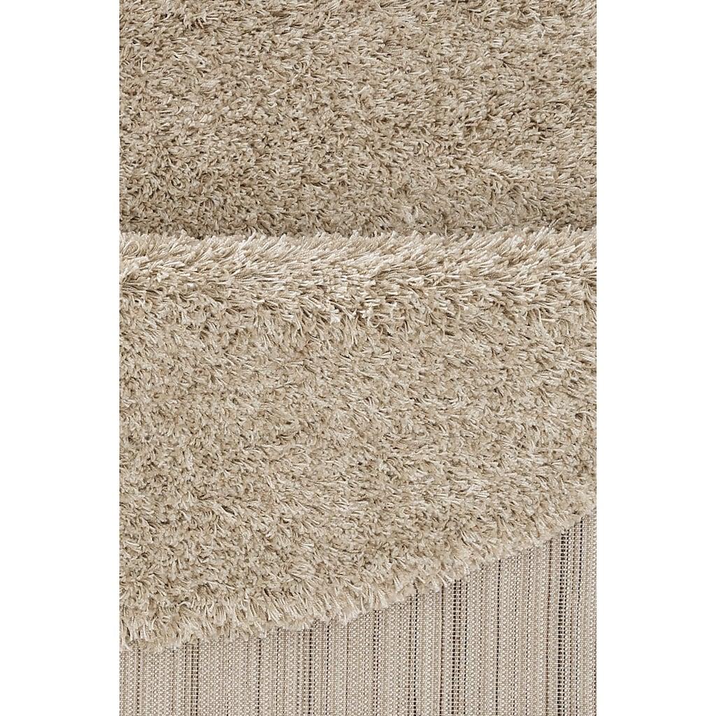 merinos Hochflor-Teppich »Denver«, rund, 50 mm Höhe, Wohnzimmer