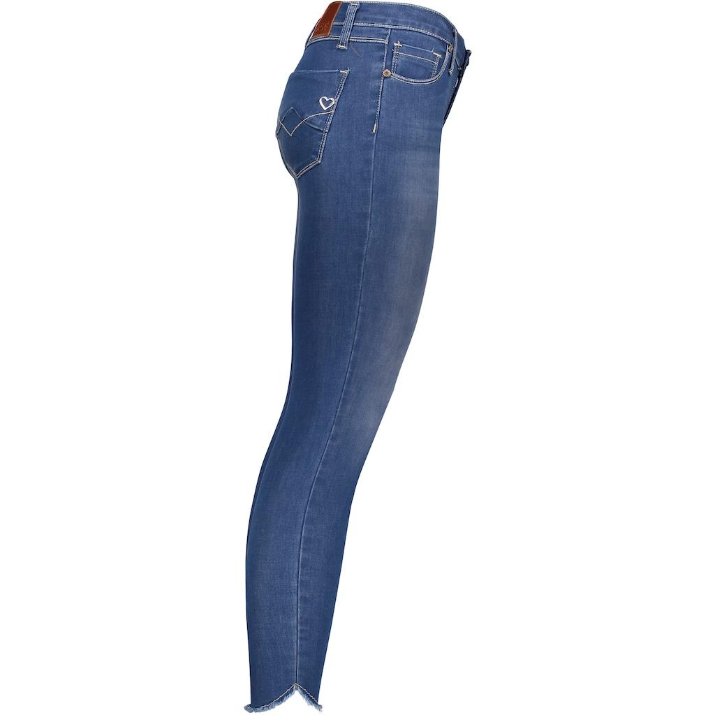 Please Jeans Röhrenjeans »P930«, mit ausgefranten Säumen