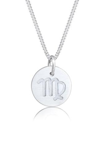 Elli Kette mit Anhänger »Sternzeichen Jungfrau Astro Symbol Matt 925 Silber« kaufen
