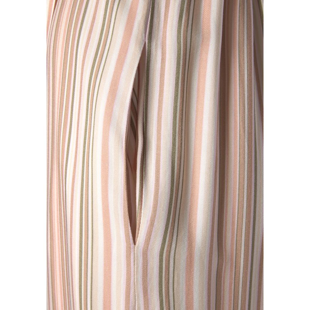 LASCANA Neckholder-Overall, (mit Bindegürtel), mit Streifenprint