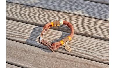 Alpenpfote Hunde-Halsband, Textil-Echtleder, mit drei Stufen verstellbar - Made in... kaufen