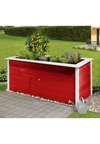 Weka Hochbeet, B/T/H: 205/80/81 cm, rot weiß kaufen