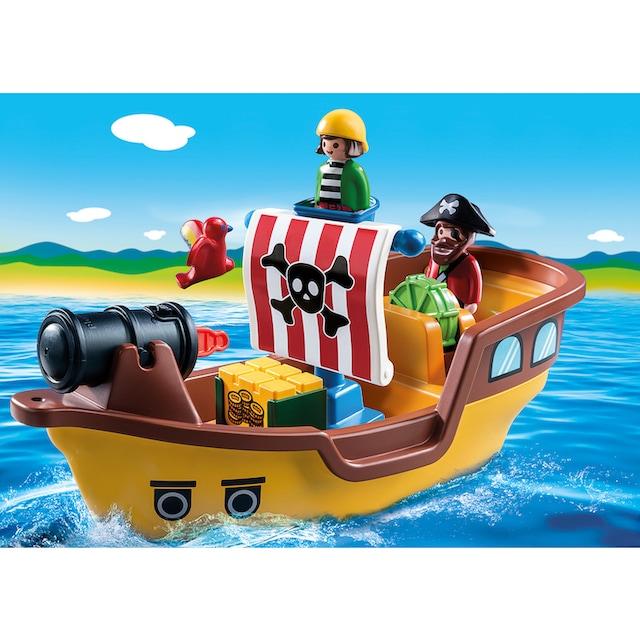 "Playmobil® Konstruktions-Spielset ""Piratenschiff (9118), Playmobil 1-2-3"", Kunststoff"