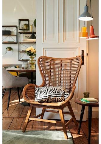 TOM TAILOR Sessel »T-RATTAN ARMCHAIR«, Rattanarmlehnstuhl mit Teakholzgestell und organischer Form kaufen
