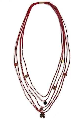 J.Jayz Lange Kette »in mehrreihger Optik mit kreisförmigen Details« kaufen
