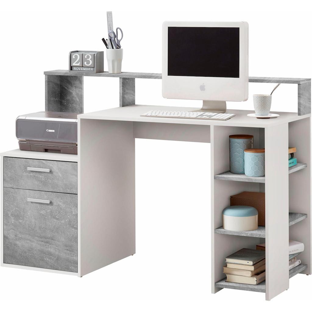 FMD Regal-Schreibtisch »Bolton«, mit 3 offenen Fächern