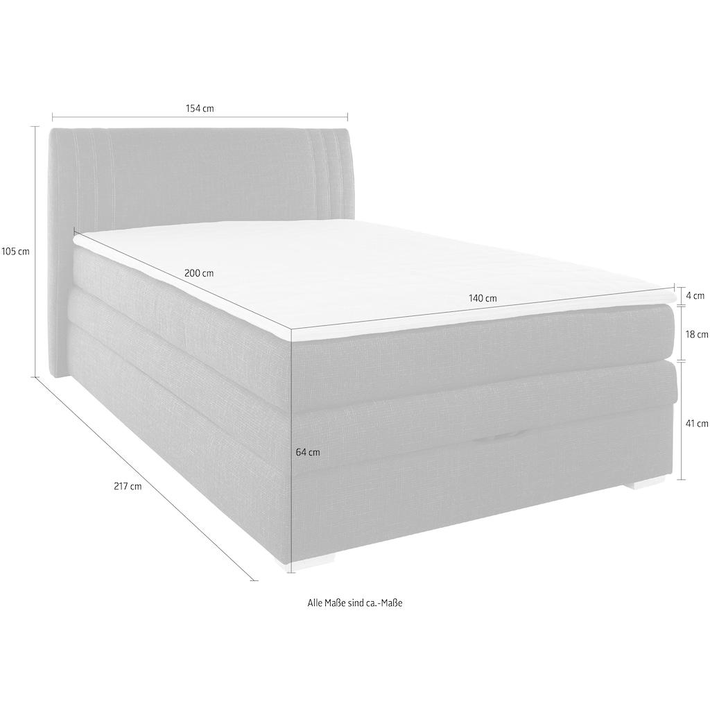 Jockenhöfer Gruppe Boxspringbett, mit Bettkasten und Topper