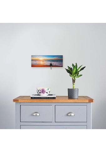Artland Schlüsselbrett »Sonnenuntergang und das Meer« kaufen