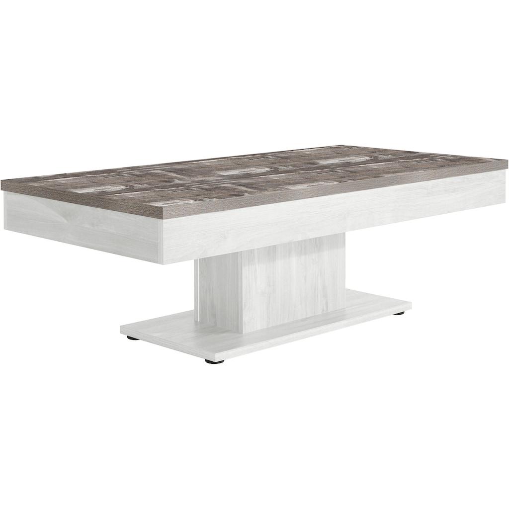 INOSIGN Couchtisch, mit Stauraum, verschiebbare Tischplatte