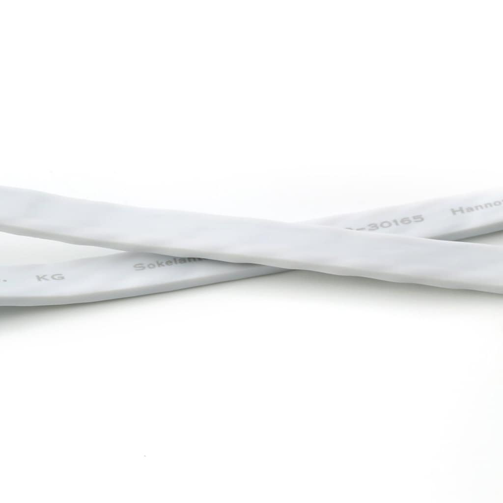 CSL Netzwerkkabel »2x RJ45 Flachband weiß/rot«, RJ-45 (Ethernet), 200 cm, Gigabit LAN | gerade Steckerausführung