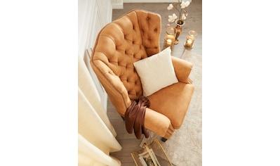 Home affaire Sessel »Bedford«, mit aufwendiger Knopfheftung und geschwungenen Armlehnen kaufen