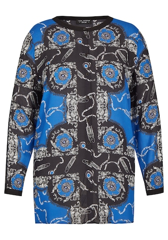 VIA APPIA DUE Fließende Bluse mit auffälligem Print Plus Size kaufen