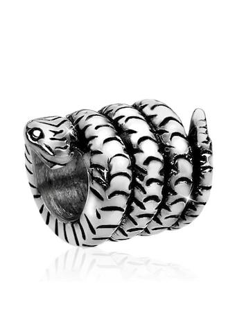 Nenalina Charm-Einhänger »Bead Silberanhänger Oxid Schlange Tier 925 Silber« kaufen
