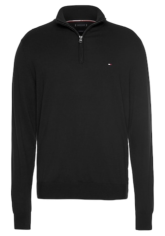 TOMMY HILFIGER Troyer »ORGANIC COTTON SILK ZIP MOCK« kaufen
