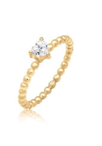 Elli Fingerring »Verlobungsring Herz Zirkonia Kristall 925 Silber« kaufen