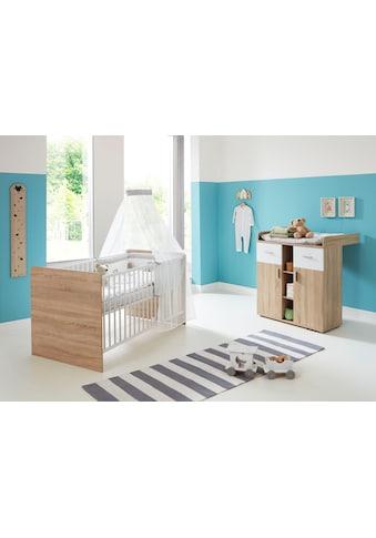 BMG Babymöbel-Set »Maxim«, (Set, 2 St.), Bett + Wickelkommode kaufen