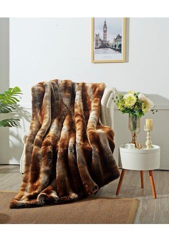 Star Home Textil Wohndecke »Zobel«, aus besonders weichem Webpelz kaufen