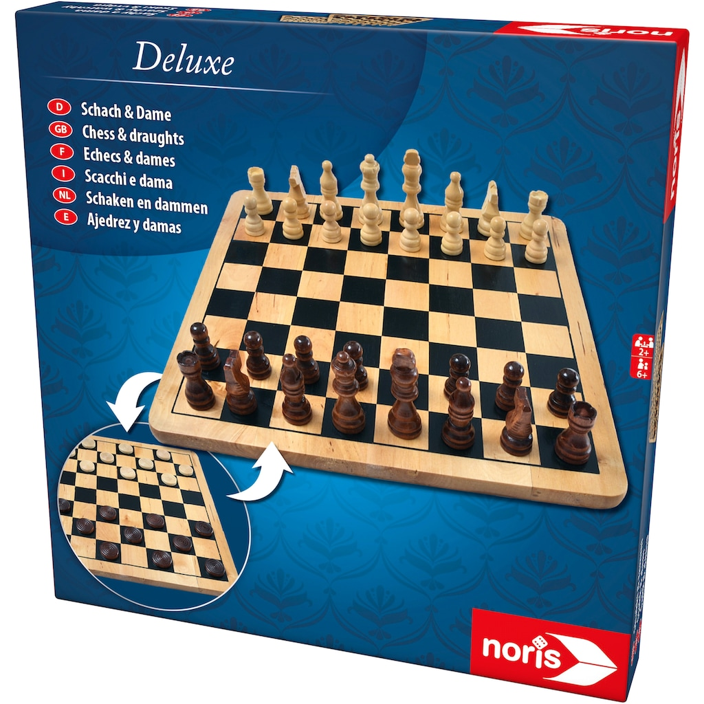 Noris Spiel »Deluxe Holz - Schach & Dame«