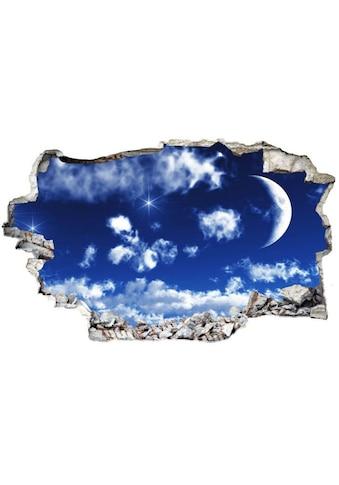 Wall-Art Wandtattoo »Wolken Sticker 3D Mond Himmel« kaufen