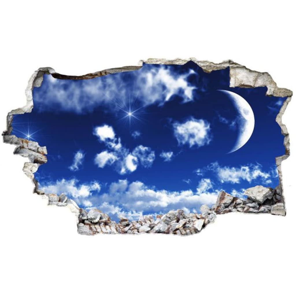 Wall-Art Wandtattoo »Wolken Sticker 3D Mond Himmel«