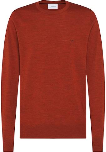 Calvin Klein Rundhalspullover »SUPERIOR WOOL CREW NECK SWEATER« kaufen