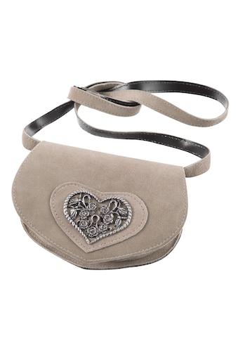 Kabe Leder Accessoires Trachtentasche, mit Herzapplikation kaufen