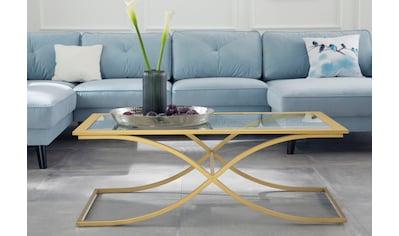 Guido Maria Kretschmer Home&Living Couchtisch »Ballum«, mit edlem Metallgestell und Glasplatte, Breite 120 cm kaufen