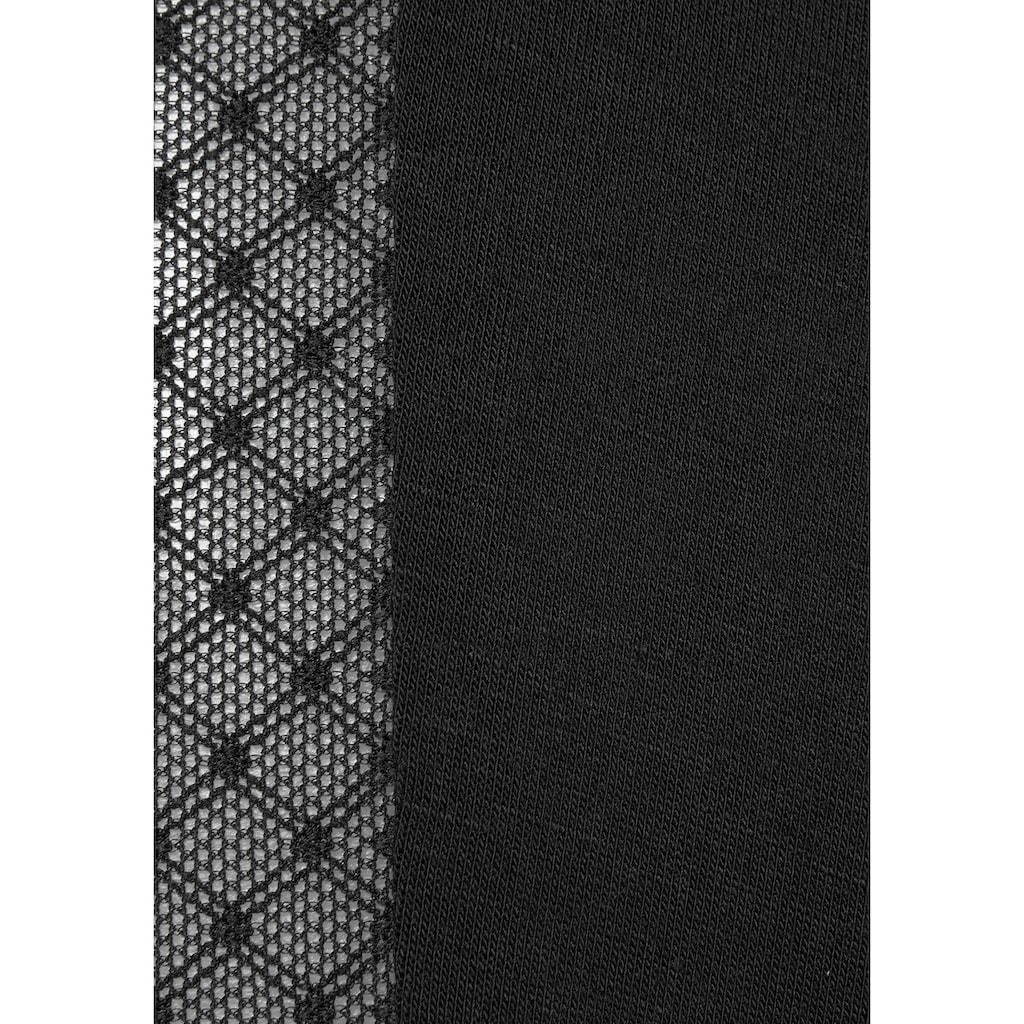 LASCANA Pyjamahose, mit Seitenstreifen aus transparenter Spitze