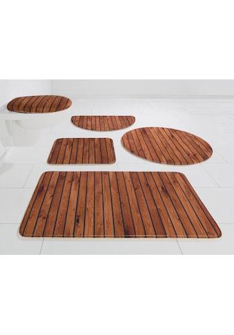 Badematte »Holzoptik«, my home, Höhe 14 mm, rutschhemmend beschichtet kaufen