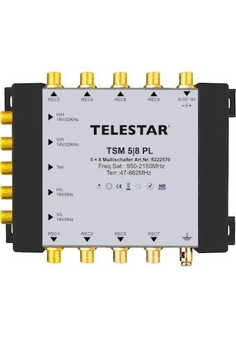 TELESTAR SAT - Multischalter zum Anschluss von bis zu 8 SAT - Receivern »TSM 5/8 PL« kaufen