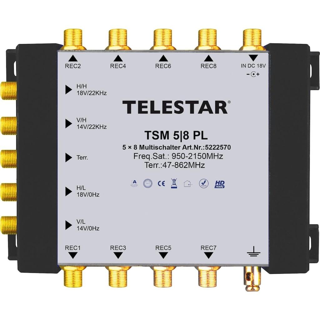 TELESTAR SAT-Verteiler »TSM 5/8 PL«, zum Anschluss von bis zu 8 SAT-Receivern