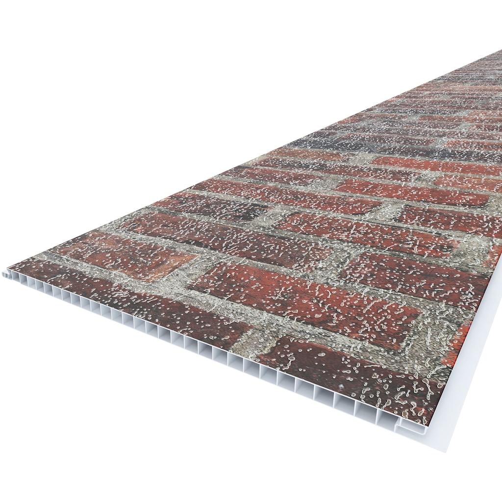 Baukulit VOX Verkleidungspaneel »Red Brick«, 3D Effekt, rot