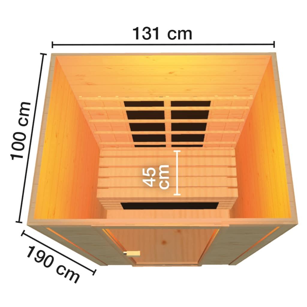weka Infrarotkabine »Provoo 2«, 19 mm, für bis zu 2 Personen