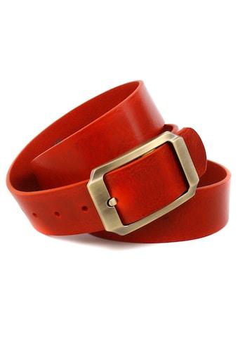 Anthoni Crown Ledergürtel, mit messingfarbender Gürtelschließe kaufen