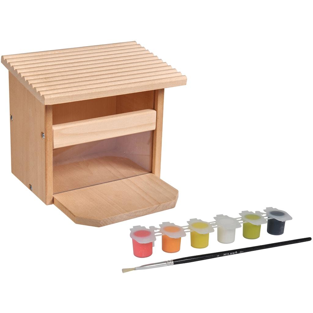 Eichhorn Kreativset »EH Outdoor, Futterhaus Eichhörnchen«, (Set), zum Zusammenbauen und Bemalen; Made in Europe