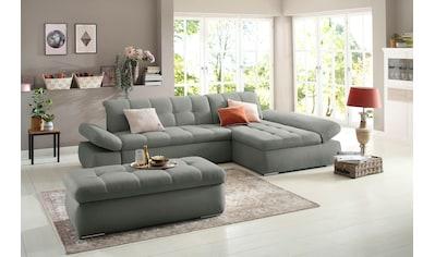 Home affaire Ecksofa »Belle«, wahlweise mit Armlehnverstellung und Bettfunktion,... kaufen