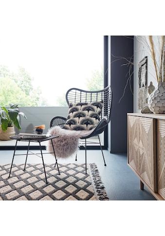 Hochflor - Teppich, »Dena«, Home affaire, fellförmig, Höhe 60 mm, maschinell getuftet kaufen