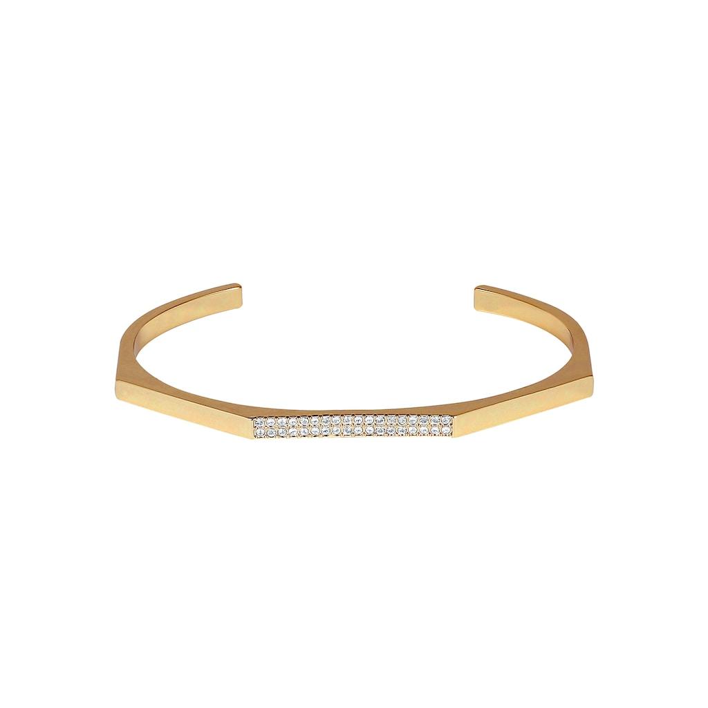 DKNY Armspange »NYC Geometric Skinny Pave Cuff (GL), 5548739«, mit Swarovski® Kristallen