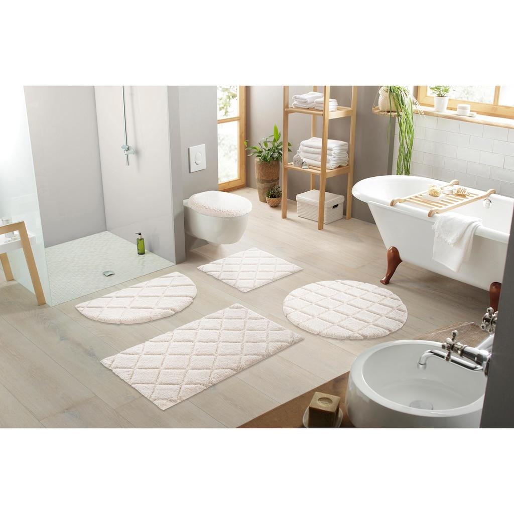 andas Badematte »Coco«, Höhe 14 mm, schnell trocknend, Hoch-Tief-Effekt