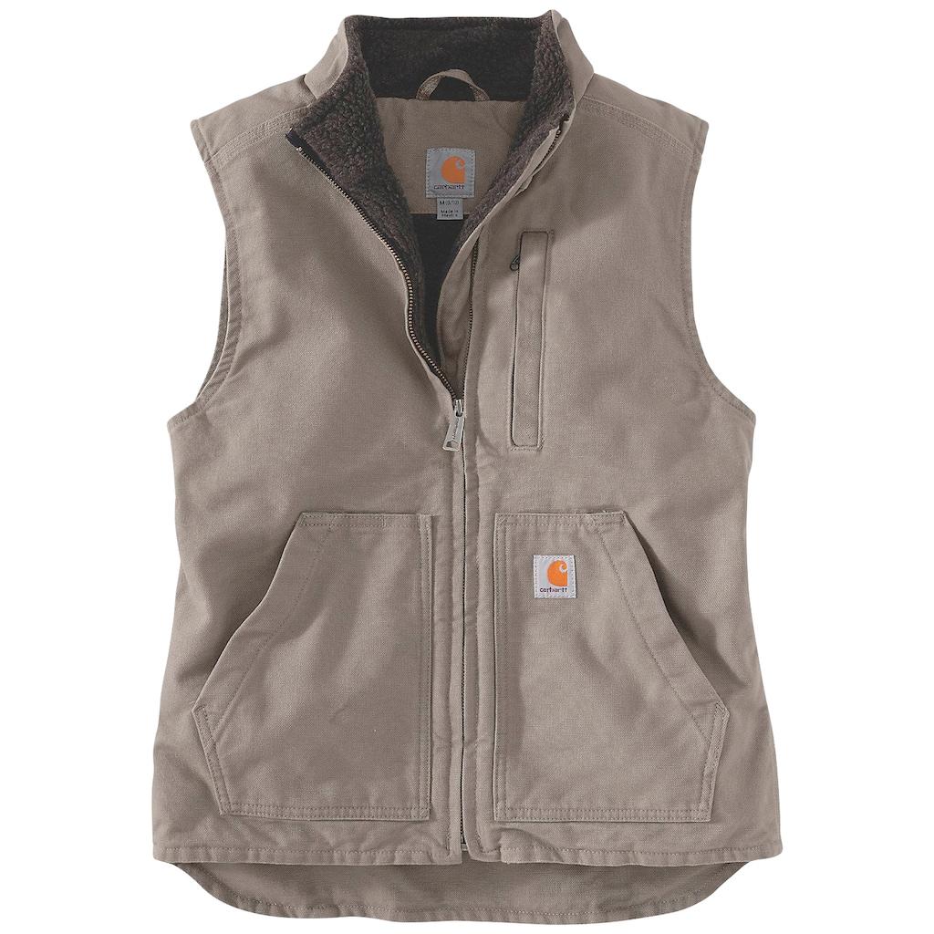 Carhartt Fellweste »SHERPA LINED MOCK NECK VEST«, mit praktischen Fronttaschen