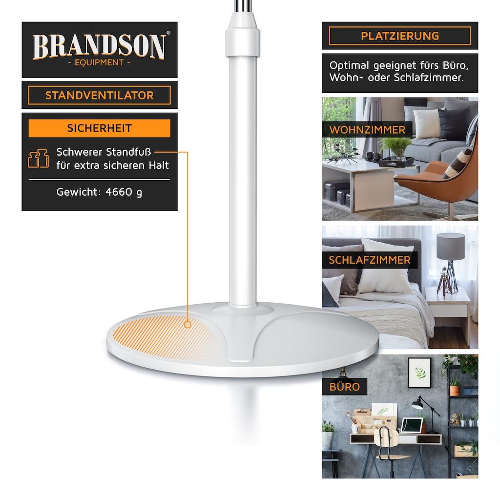 Brandson Standventilator »Standlüfter mit 104 - 125,5 cm Höhe | 37cm Ø«, 50 W mit Oszilation