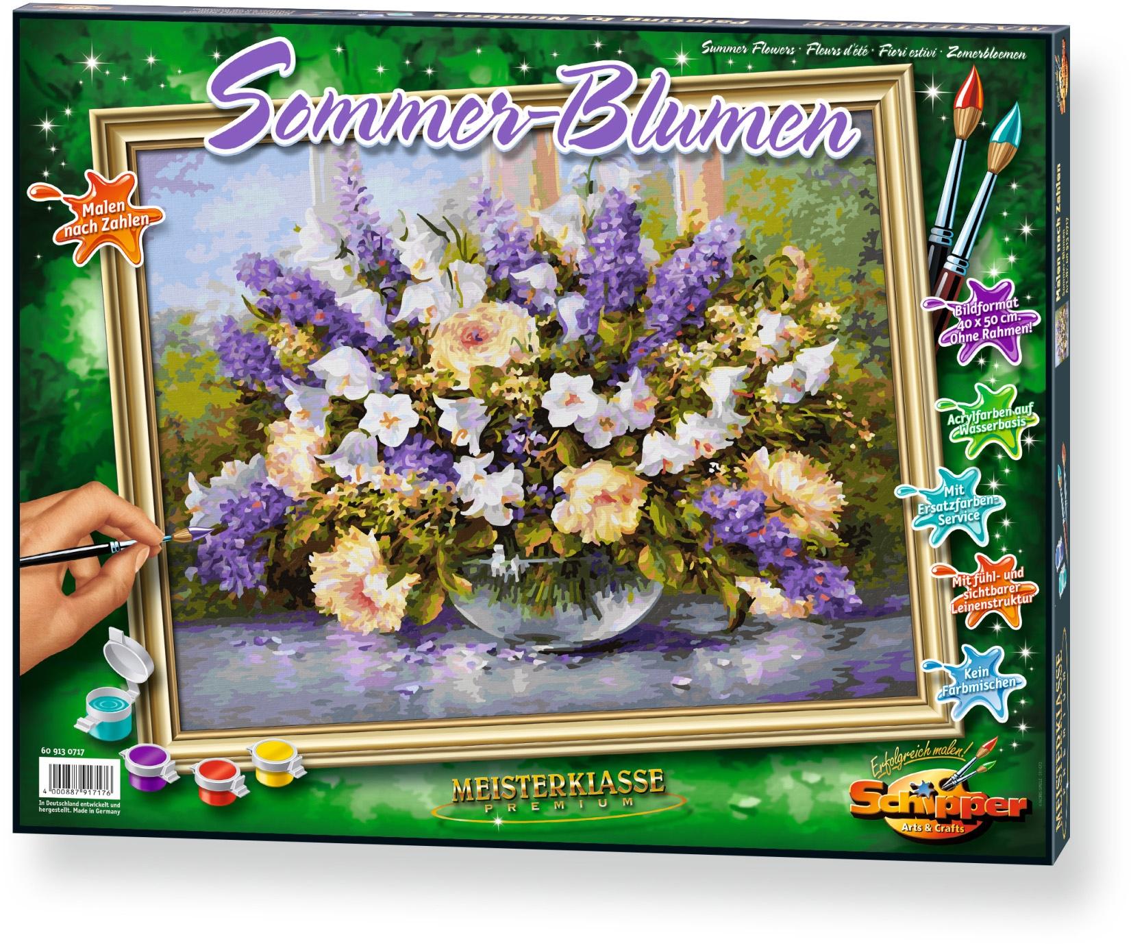 , Malen nach Zahlen, »Meisterklasse Premium Sommerblumen«