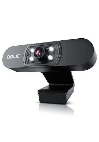 Aplic Webcam »4 Hilfslichter / Szenelicht– 5P Linse – Mikrofon«, Full HD kaufen