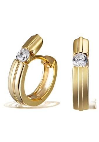 goldmaid Paar Creolen, 925 Sterlingsilber 2 Zirkonia kaufen