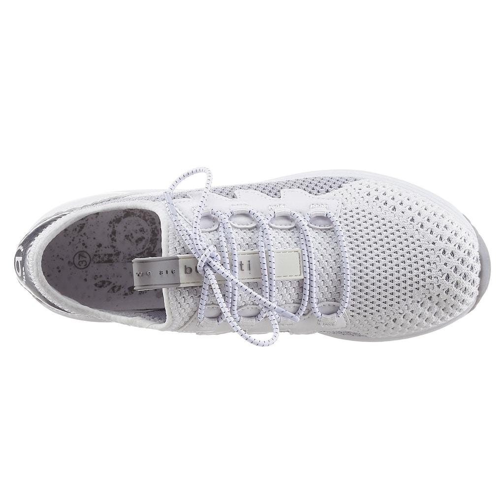 bugatti Slip-On Sneaker »IVORY EVO«, mit Gummiband Schnürung