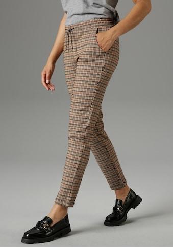 Aniston SELECTED Schlupfhose, Hahnentritt-Muster in herbstlichen Farben - NEUE KOLLEKTION kaufen